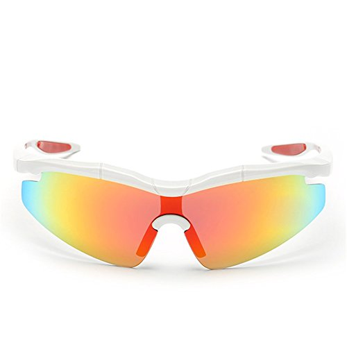 Y-H Men's Premium Polarized Mirror Lens Detachable Sports Cycling Riding Fishing Sunglasses(C5)