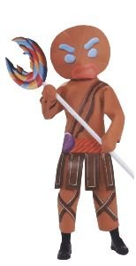 Gingerbread Man Warrior Costume - Standard - Chest Size 40-44