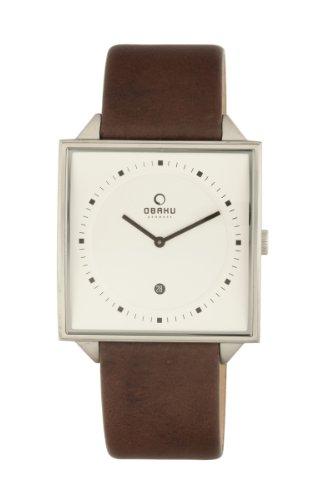 Obaku Harmony V116U CIRN - Reloj unisex de cuarzo, correa de piel color marrón