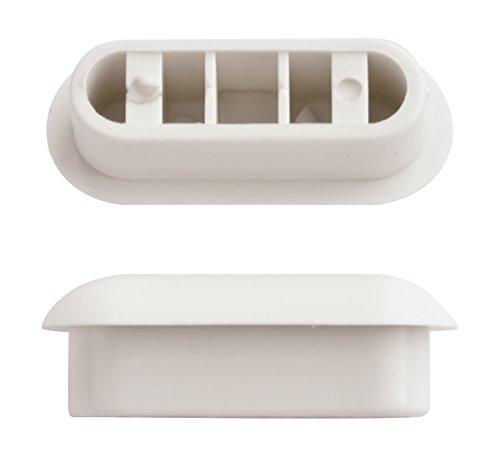 WC-Sitz-Puffer Nr. 25 | Auflagestopfen für Toilettensitz | Abstandhalter für WC-Brille | Dämpfer | Weiß | Kunststoff