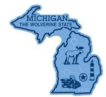 Michigan the Wolverine State Map Fridge Magnet (Michigan Fridge Magnet compare prices)