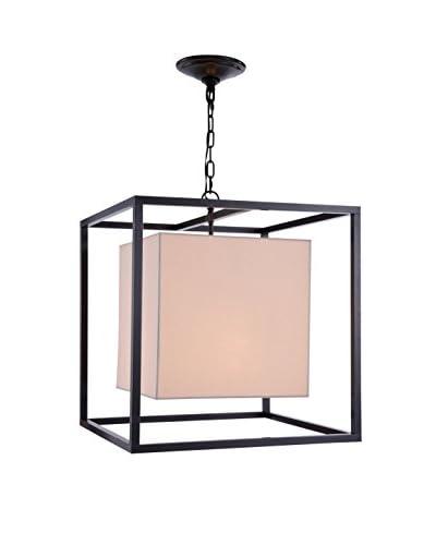 Urban Lights Quincy 2-Light Pendant Lamp, Antique Bronze