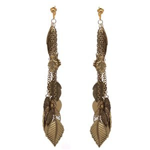 Damica Antique Gold Clip On Earrings