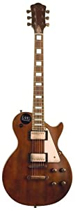 AXL Badwater Dual Pickup 1216 Electric Guitar, Antique Brown