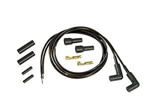 Universal Thundersport Motorcycle Black 5mm Spark Plug Wire Kit
