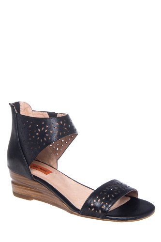Pasadena Low Wedge Ankle Strap Sandal
