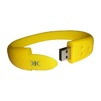Wristband Usb Flash Pen Drive Memory Stick 4gb - **yellow** - Brilliant Gift from DJC Electronics