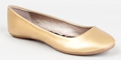 Qupid THESIS-92 Classic Round Toe Patent Slip On Basic Comfortable Flat Shoe