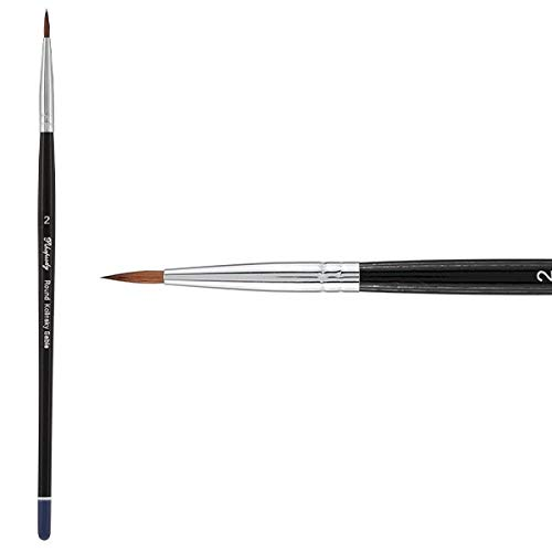 Creative Mark Rhapsody Kolinsky Sable Artist Watercolor Paint Brush - for Professional Watercolorists, Gouaches, Inks, Fluid Medias - [Round 2] (Color: Kolinsky Sable Round # 2, Tamaño: Size 14)