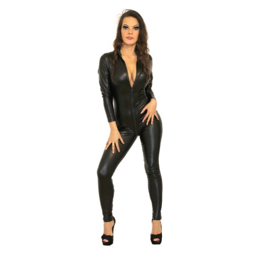 I-glam Women's Wetlook Bustier Outfit Catsuit
