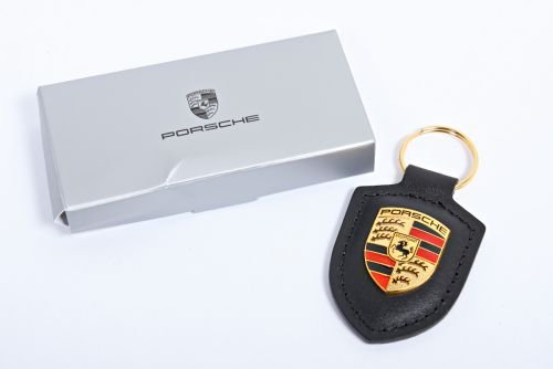 Porsche Crest Key Ring, Black