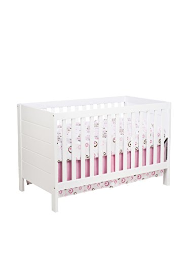 Babyletto Kid's Modena 3-in-1 Convertible Crib with Toddler Bed Conversion Kit, White