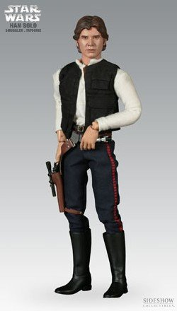 31r3FNTvriL Cheap  Sideshow Heroes of the Rebellion Collectibles Star Wars Deluxe 12 Inch Action Figure Han Solo: Smuggler (Tatooine)