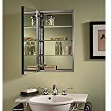 Jensen S468244SS Studio IV Series Recessed Beveled Mirror Medicine Cabinet, White