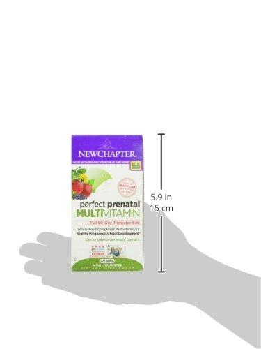 孕期补充明星款,New Chapter Perfect Prenatal完美孕宝 孕妇产前综合营养素270片(3个月量)图片