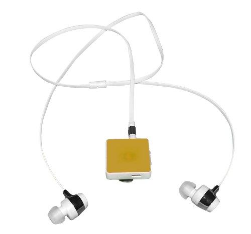 X-Flow(Tm) Clip Bluetooth Headset Wireless Sport Earphone Foriphone 5S 5C 4S 4, Ipad New Ipad, Ipod, Android, Samsung Galaxy, Smart Phones. (Goden)