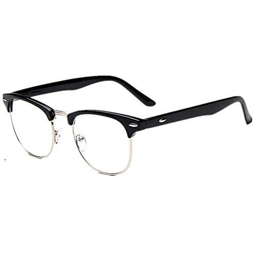 Half Frame Glasses Outfit : Vintage Inspired Classic Half Frame Horn Rimmed Clear Lens ...