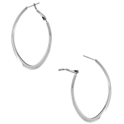 40mm - Inox Jewelry Oval Shape 316L Stainless Steel Earrings