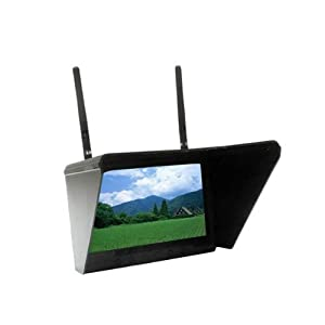 """FlySight 32 Ch Black Pearl 5.8Ghz 7"""" Diversity Monitor with Integrated Battery (RC801)"""