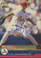 Justin Brunette St. Louis Cardinals 2001 Pacific Autographed Hand Signed Trading... by Hall of Fame Memorabilia