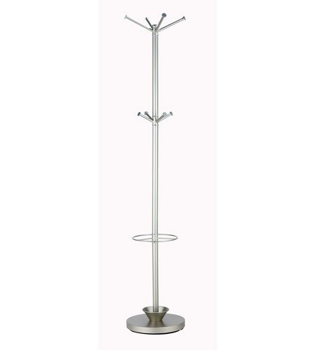 Adesso WK2048-22 Quatro Umbrella Stand /Coat Rack, Champagne Steel