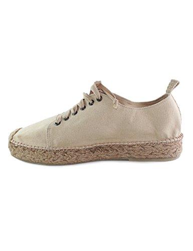 Sneaker con suola in juta 25mm Casimiro Perez linea Funchal colore beige n.46