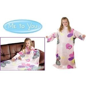 Childrens/Kids Girls Me To You Sleeved Fleece Snuggle Blanket (35X47 Inches) (Pink)