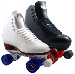 Skate Out Loud Sure Grip 73 Sunlite Medallion Plus | Boot Color: Black | Wheel Color: Blue | Plate Color: Blue | Size: 6