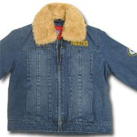 Green Bay Packers Women's Denim Jacket w/Removable Fur Collar from G-III