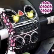140pcs Glitter Crystal Diamond Decoration / Shining Rhinestone Sticker for Car Sticker Cell Phone Ornament (Purple)