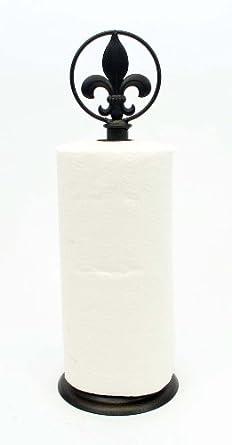 Fleur de lis paper towel holder 17h industrial scientific - Fleur de lis towel rack ...