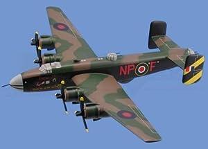 Halifax Bomber RAF Airplane Model Toy. Mahogany Wood Model Aircraft Scale: 1/59