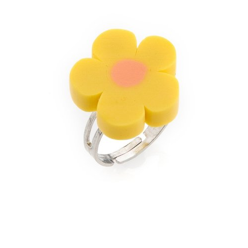 Yellow Flower Ring - Childrens Adjustable Ring - will arrive in gift bag