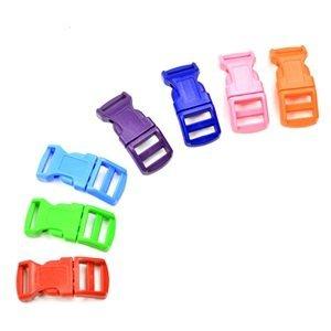 "Bluecell 70 Pcs 1/2"" Red/Pink/Light Blue/Green/Royal Blue/Purple/Orange Contoured Side Release Plastic Buckles front-112977"