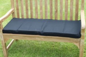 Uk-Gardens Black Garden Furniture 2 Seater Garden Bench Cushion