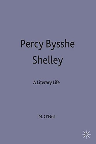 Percy Bysshe Shelley: A Literary Life (Macmillan Literary Lives)