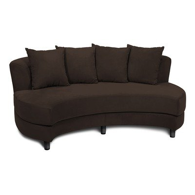 Roundabout Oval Sofa in Chocolate Fabric: (As Shown) Chocolate