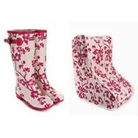 Jileon Pink Floral Wellies