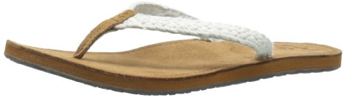 Reef Women's Gypsy Macrame Sandal,Cream,5 M US Reef Woven Sandals