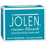 Jolen 1oz Creme Bleach Regular Lightens Excess Dark Hair (3 Pack)