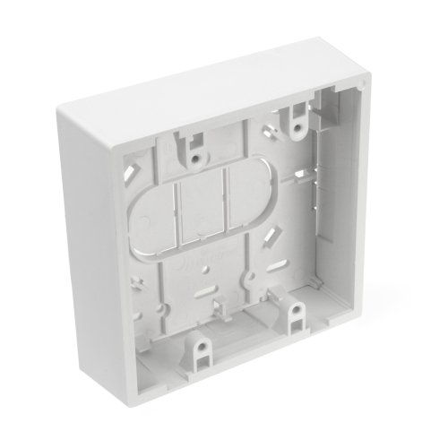 Leviton 42777-2Wb Surface Mount Backbox, Dual Gang, White, Box Depth Is 1.45 Inches