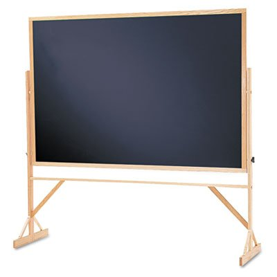 Quartet Reversible Black Melamine Chalkboard, 4 x 6 Feet, Includes Accessory Rail, Hardwood Frame (WTR406-810)