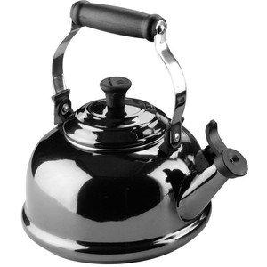 Chantal Premium Enamel-on-Steel Whistling Teakettle 1.8 Quart Black