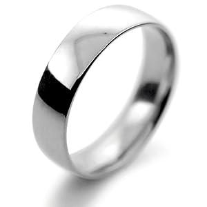 Palladium Wedding Ring Flat Court Light - 5mm