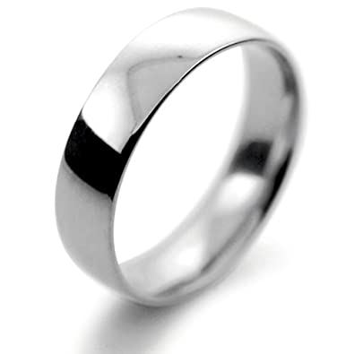 Palladium Wedding Ring Flat Court Light - 5mm