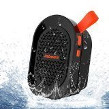 Jabees BeatBOX Mini Waterproof Portable Bluetooth Wireless Speaker with In-Built Mic and LineIn(Black-Orange)
