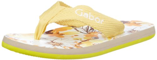Gabor Home GA1007yel, Infradito donna, Giallo (Gelb (yellow)), 36