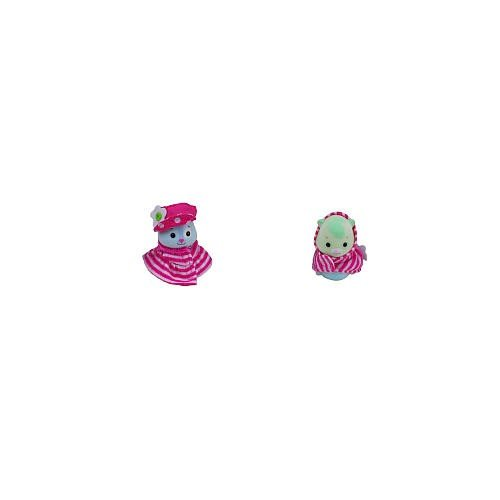 Zhu Zhu Baby Outfits - Pink Stripe Jumper & Pink Stripe Hoodie front-927966