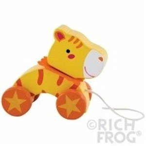 Rich Frog Wooden Pull Toy - Tiger - 1