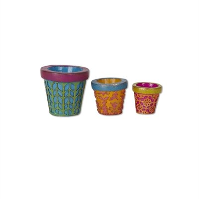 Studio M - Gypsy Fairy Garden - Mini Patterned Pots Set of 3 GG268